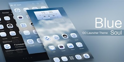 Screenshot of Blue Soul GO Launcher Theme