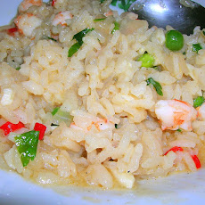 Shrimp and Pea Risotto