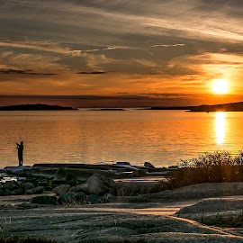 Sunset from Foten by Ronny Svendsen - Landscapes Sunsets & Sunrises ( foten, fredrikstad, sunset )