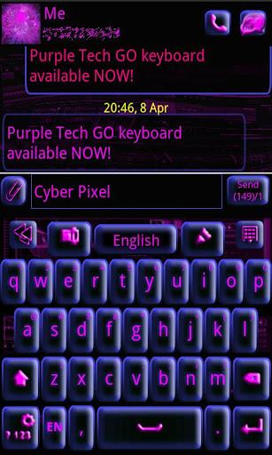 GO Keyboard Purple Tech