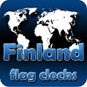 Finland flag clocks icon