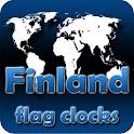 Finland flag clocks