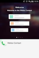 Screenshot of weibo contact