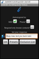 Screenshot of QwikSMS AutoResponder Deluxe
