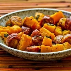 Roasted Winter Squash and Sausage with Herbs