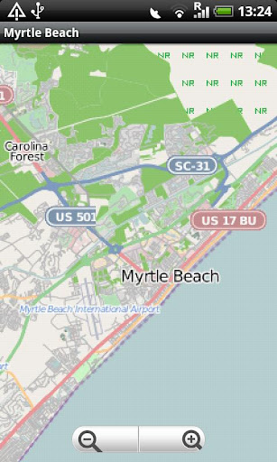 Myrtle Beach Street Map