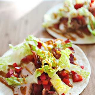 Garlic Bacon Chicken Wraps