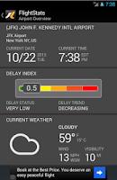 Screenshot of FlightStats