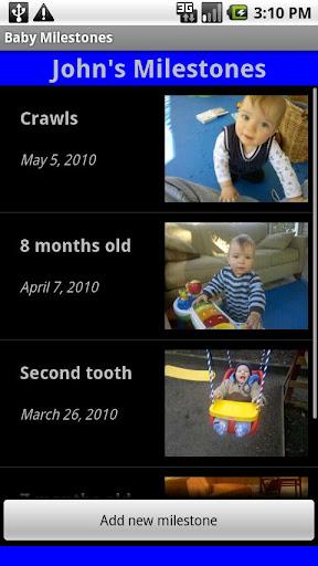【免費生活App】Baby Milestones-APP點子