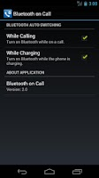 Screenshot of Bluetooth on Call