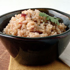 Pecan White and Brown Rice Pilaf