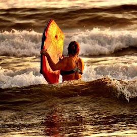 Surfer Girl by Lori Fix - Sports & Fitness Watersports