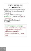 Screenshot of Pocket Math 3ème
