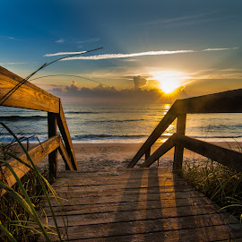 Morning Walk by Jason Green - Buildings & Architecture Bridges & Suspended Structures ( ponte vedra, 904, summer, sunrise, beach )