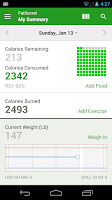 Screenshot of Calorie Counter by FatSecret