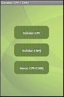 Screenshot of CPF / CNPJ Gerador e Validador
