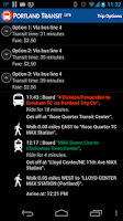 Screenshot of Portland Transit Lite