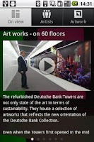 Screenshot of Deutsche Bank Art works