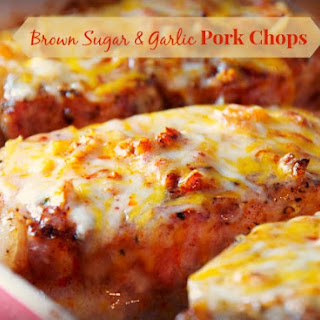 Cheesy Garlic and Brown Sugar Pork Chops