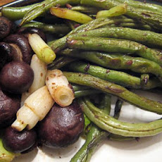 Asian Roasted Green Beans With Mushrooms