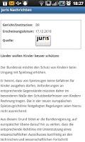 Screenshot of juris Nachrichten