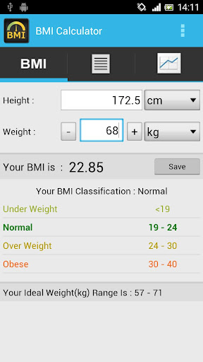 BMI Calculator - Track Weight
