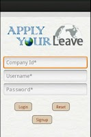 Screenshot of ApplyLeave