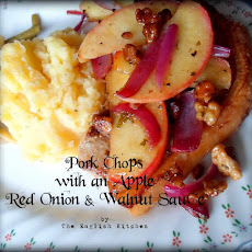 Pork Chops with an Apple, Red Onion & Walnut Sauce