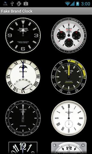 フェイクブランドクロック(アナログ時計)