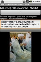 Screenshot of Metris Medresesinden Mektuplar
