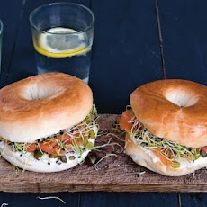 Bagels With Salmon And Sprouts