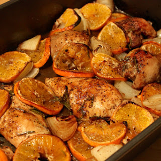 Roasted Chicken with Clementines & Rosemary