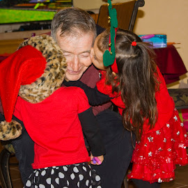 Kisses for Great Grandpa by Marsha Norris - People Family ( love, holiday, family, christmas, children,  )