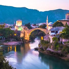 Mostar by Stephen Bridger - Buildings & Architecture Public & Historical ( eastern europe, europe, bosnia and herzegovina, stari most, old bridge, bosnia & herzegovina, bosnia, travel, mostar, bih, travel photography )