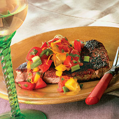 Blackened Tuna With Orange-Zested Salsa