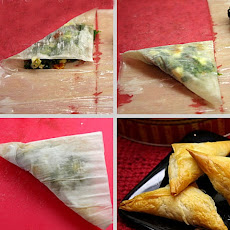 Spinach, Feta & Sundried Tomato Phyllo Triangles
