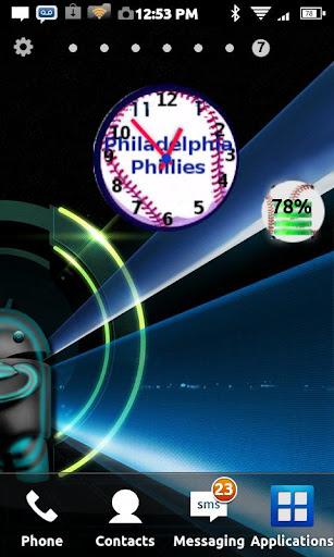 Philadelphia Phillies Clock
