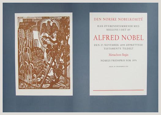Nobel Peace Prize – December 10 1978