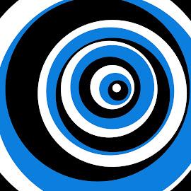 blue eye by Renco Gotovac - Illustration Abstract & Patterns ( circles, blue, white, round, black, eye )