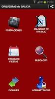 Screenshot of Galicia's Orchestras