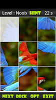 Screenshot of Parrot Sliding Puzzle