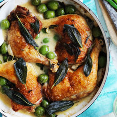 Chicken With Olives And Sage