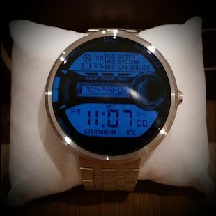 Moto 360 Digital Watch face - screenshot