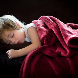 Sleepy Boy by Mike DeMicco - Babies & Children Child Portraits ( dreaming, calm, expression, innocent, little, children, sleeping, cute, kid, comfortable, child, serenity, handsome, boy, light )