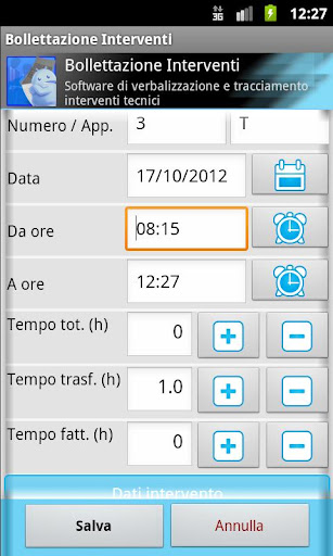 Service Report - screenshot
