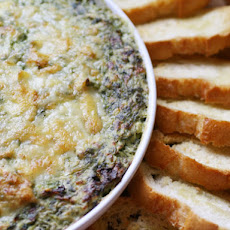 Boursin and Gruyère Spinach and Artichoke Gratin Dip