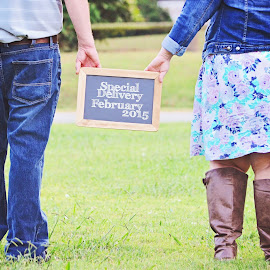 Special Delivery by Ali Reagan - People Maternity ( love, maternity, walking, chalkboard, baby )