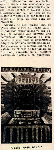 tapiz hecho en Galeria del Sol