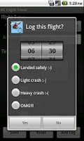 Screenshot of RC Flight Timer and Logger
