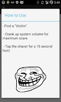Screenshot of Shaver Prank
